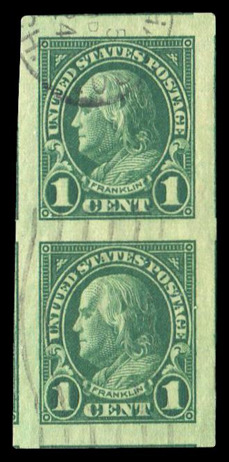 #575 Used Vertical Pair PSE Graded 100, Cert # 01276496